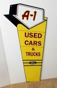 Heavy Enameled Steel Metal Ford A-1 Used Cars And Trucks Sign