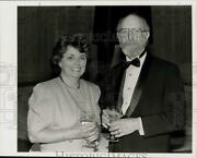 1992 Press Photo Physician Dr. David Bronstein With Anne Burke At Event