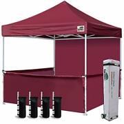 Eurmax 10'x10' Ez Pop-up Booth Canopy Tent Commercial Instant Canopies With 1 Fu