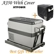 53qt Portable Car Fridge Freezer Camping Travel Electric Refrigerator With Cover