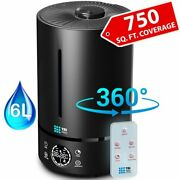 6l Cool Mist Large Humidifier For Home - 360° Humidifiers For Large Room, Bedroo