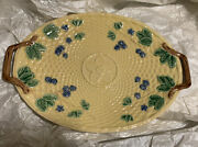Blackberries Majolica Serving Tray. Made In Portugal. Collectors Item