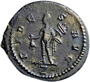 Ancient Roman Coin Certified Claudius Gothicus Hermes Holding Purse Sharp /coa