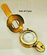 Nautical Marine Brass Military Best Collectible Compass Lots Of 3 Pcs