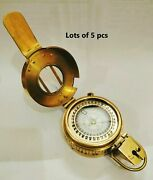 Nautical Marine Brass Military Best Collectible Compass Lots Of 5 Pcs