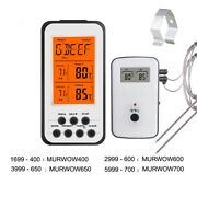 Wireless Bbq Thermometer Metal Lcd Digital Kitchen Oven Timer Temperature Alarm