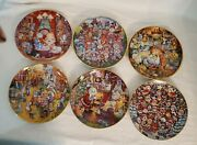 6 Franklin Mint Bill Bell Limited Edition Cat Collector Plates