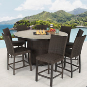 Brand New Agio Mckenzy 9 Piece High Dining Fire Chat Set + Cover