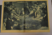 Beautiful Antique Large Engraving Casino Roulette Gambling Other Techniques Art