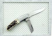 1 Rare 4425 Kershaw Ser 879/1200 Officer Ranch Trapper Stag Pocket Knife New