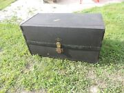 Vintage 1920and039s Henry Likly Luggage Trunk His And Her Suitcase - Big Car - Pre War