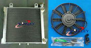 3 Row Radiator +fan For Bombardier Brp Can Am Ds 650 Ds650 Ds650x Baja 2000-2007