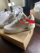 Nike Air Force 1 Low X Off-white The Ten 2017mens Size 9.5