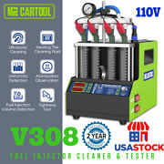 24cylinder Car Motor Fuel Injector Cleaning Machine Heat Cleanerandtester Kit Usa