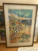 Leroy Neiman Signed Serigraph Of The Beach At Cannes.andnbsp Excellent Condition.