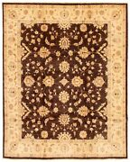 Vintage Hand-knotted Carpet 7and03910 X 9and0398 Traditional Oriental Wool Area Rug