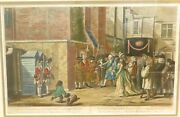 .1786 Rare Attempted Assassination King George Iii Framed Coloured Engraving