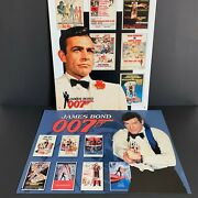 James Bond 007 Nostalgic Metal Signs Sean Connery/roger Moore Lot Of 2