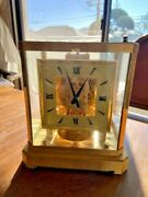 Jaeger-le Coultre Atmos Clock Table Clock Swiss Gold Vintage 50 Years Ago