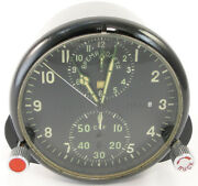 Achs-1 Russian Made In Ussr Military Air Force Aircraft Cockpit Clock Mig 29 Su