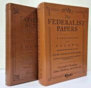 Common Sense And The Federalist Papers Set Of 2 Faux Leather Books Brand New