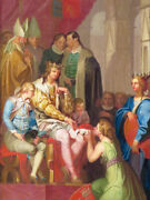 Oil Painting Handpainted On Canvas Christian I Elevates Holsten To The Duchy
