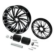18x5.5and039and039 Rear Wheel Rim Hubs Belt Pulley Sprocket Fit For Harley Flht 08-21 16