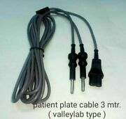 Patient Plate Cable Valley Lab Fitting 3 Meter 5 Piece Set Laparoscopic