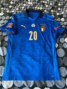 Italy Home Jersey Nations League Match Worn Issue Shirt Locatelli 2020 Sz L