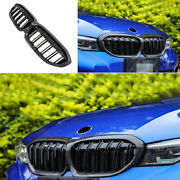 For 2019-2021 Bmw 3-series G20 Double Front Bumper Grill Mesh Frame Carbon Fiber