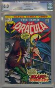 Tomb Of Dracula 10 Cgc 6.0 1st Blade The Vampire Slayer White Pages
