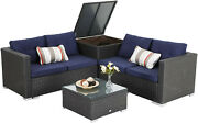 Patio Furniture Set Rattan Wicker Outdoor Sectional Couch Sofa With Storage Box