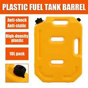 Portable Car Fuel Tank Cans Spare Gas Storage 10l For Atv Motorcycle Yellow