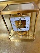Jaeger-le Coultre Atmos Clock Table Clock Swiss Gold Vintage Antique Table Clock