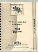 Ditch Witch 3500 Trencher Parts Manual Catalog