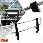 For 99-12 Mercedes G-class W463 G500 Bumper Brush Grill Guard Protector Chrome