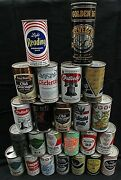 Lot Of 24 Vintage Collectible Pull Tab Empty Beer Cans Various Makers