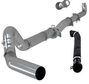 Mbrp S60200plm Gm8424 5 Exhaust Down Pipe Straight For 04-07 Gm Duramax Diesel