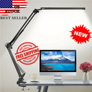 Led Desk Lamp Adjustable Metal Swing Arm Desk Lamp With Clamp 3 Colors 10 Bright