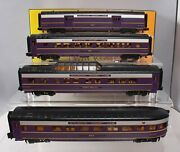 Mth 30-68019 Acl 4-car 60and039 Streamlined Passenger Set Ln/box