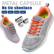 Easy Wear No Tie Rubber Shoe Laces For Adults Kids Trainers Elastic Shoelaces