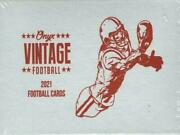 2021 Onyx Vintage Collection Football Factory Sealed Box