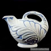 Vintage Michael Andersen And Son Blue And White Floral Motif Jug Old Scandinavia