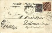China 1900 Cover Pc Shanghai Local Post Dragon Via French P.o. To Germany