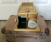 Antique Braun Paximat Gold Metal German Projector, Case And 108 Slides 1/1 On Ebay