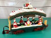 1995 New Bright Holiday Express Animated Train Candy Dancer Elf Handcar
