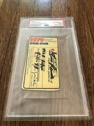 Tim Raines Signed And Inscribed Debut Ticket Pass Psa - 1979 Expos Pass - Rookie