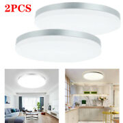 2pcs Ultra Thin Led Ceiling Light Dimmable Panel Lamp Flush Mount Fixture Remote