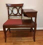 Mid Century Gossip Bench Excellent Condition / Nice And Sturdy
