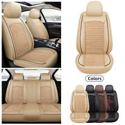 5-seats Sedan Car Seat Covers Leather Front And Rear Full Interior Set Accessories